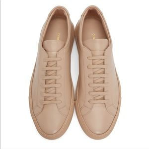 COMMON PROJECTS pink leather sneakers